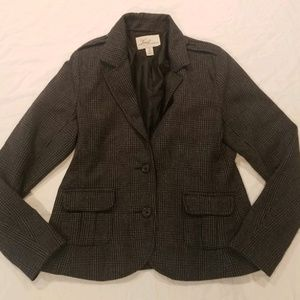 Levi's San Francisco gray plaid blazer, Size Large
